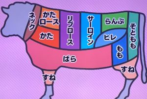 国が定めた基準の牛肉11の部位