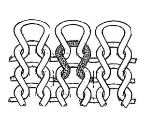 ジャージーステッチ図1