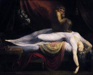 悪夢TheNightmare1781年ヨハン・ハインリヒ・フュースリ作